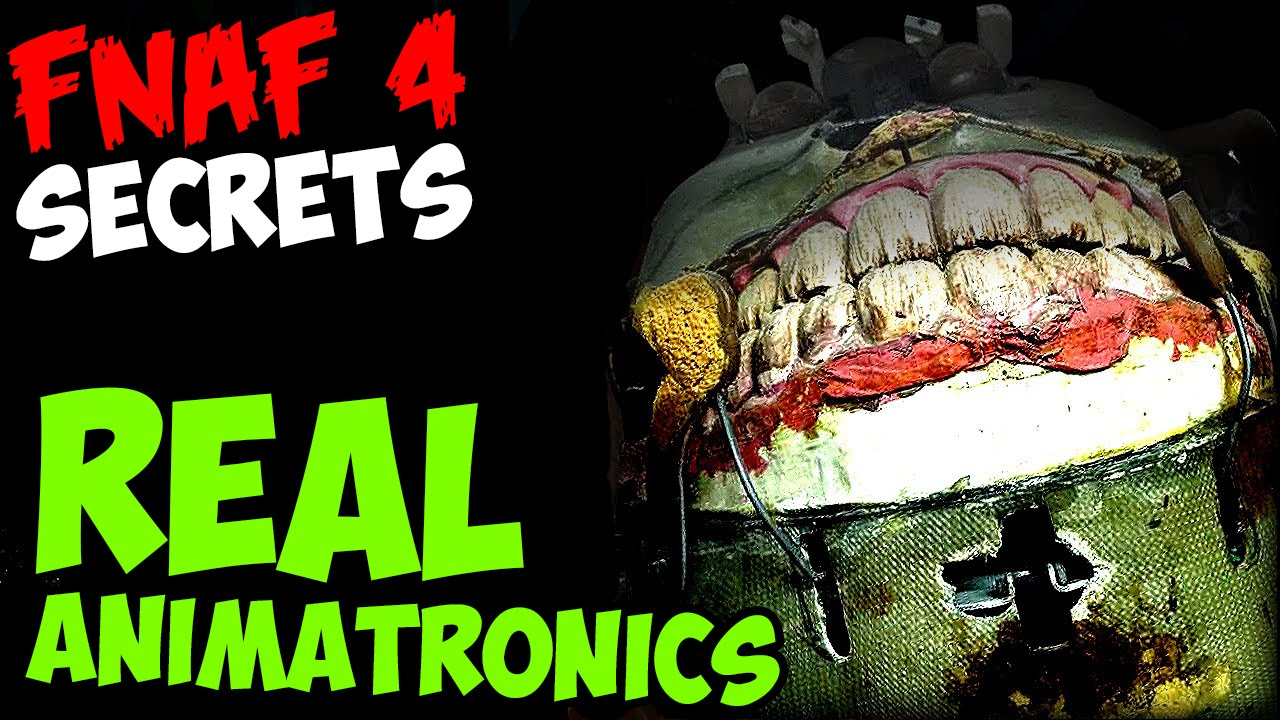 Five nights at freddy s 4 real animatronics youtube