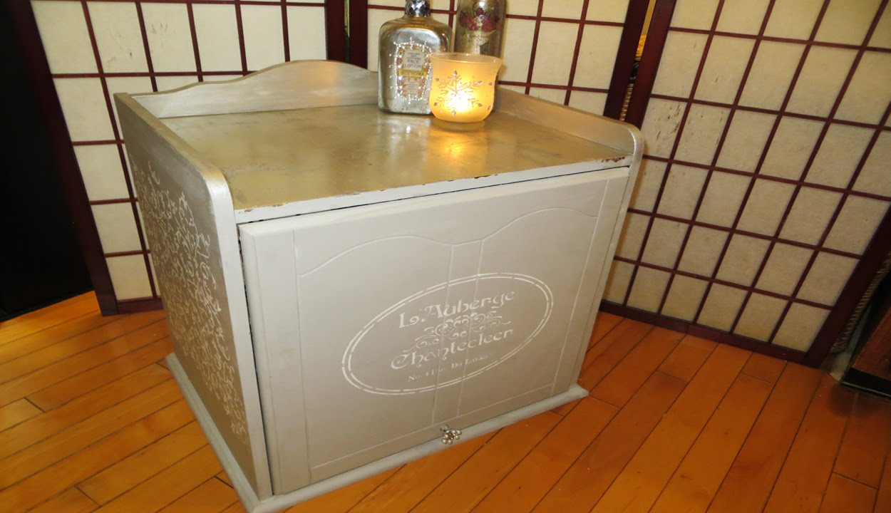Decoupage Tutorial Silver Leaf Furniture Upcycle   YouTube