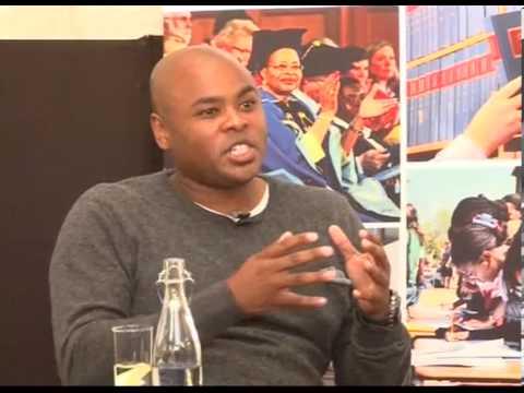 Hlumelo Biko speaking at UCT Alumni event in Johannesburg