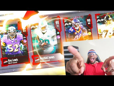 BEST PACK EVER! 94 OVERALL RAY LEWIS PULL! MOST FEARED! - Madden 18 Ultimate Team
