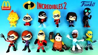 McDONALD'S HAPPY MEAL TOYS 2018 INCREDIBLES 2 FUNKO MYSTERY MINIS FULL SET 12 SURPRISE BLIND BAG BOX