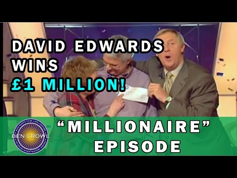 Who Wants to be a Millionaire UK 2nd Million Pound Winner David Edwards 21-4-2001