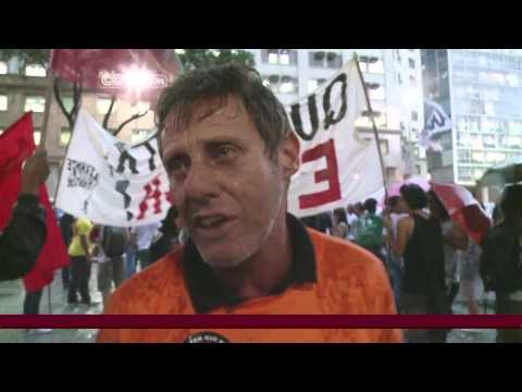 Brazil oil workers protest foreign involvement in industry