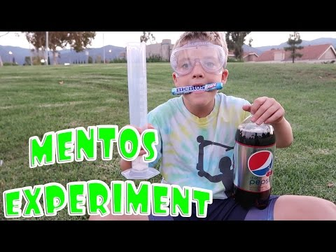 Thumbnail: MENTOS & DIET COKE SCIENCE EXPERIMENT!