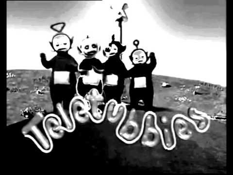 Teletubbies In Black And White YouTube - Teletubbies in black and white is terrifying