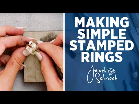 How to Make a Stamped Ring | Jewelry 101