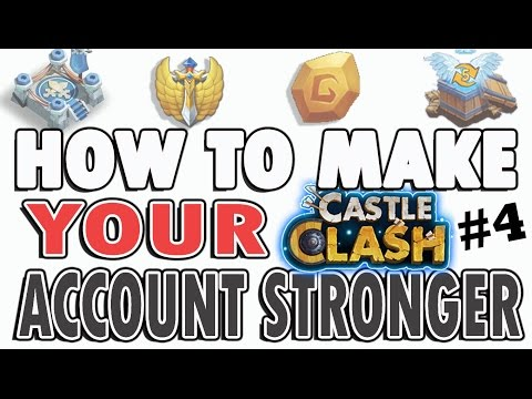 Castle Clash-How To Make Your Account Stronger Episode #4: More Blue Crystals And Inscriptions