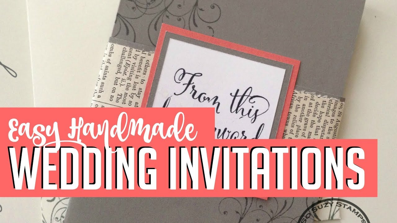 Easy DIY Handmade Wedding Invitations Howto YouTube