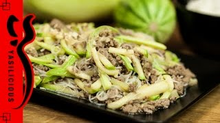 ZUCCHINI GLASNUDEL PFANNE mit HACKFLEISCH – einfaches asiatisches Rezept aus wenigen Zutaten