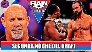Draft Noche 2 WWE RAW 4 Octubre 2021 Resultados y Análisis