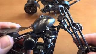 Как сделать мото-байк из металлолома сваркой !!!(На этом канале много обзоров странных,необычных зажигалок и других прикольных предметов. А так же фокусы,го..., 2015-03-12T04:09:15.000Z)