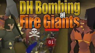 Dharok Bombing at Fire Giants (OSRS)