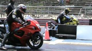 Nitrous Hayabusa vs BMW s1000rr drag racing 2010 thumbnail