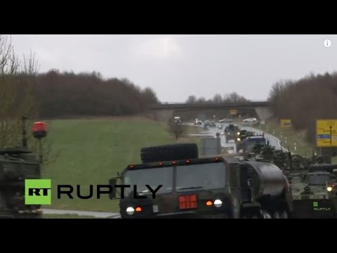LIVE: US Army's 'Dragoon Ride' convoy parades at Rose Barracks military base