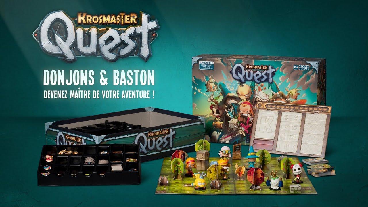 krosmaster quest donjons baston nouveau jeu de plateau trailer youtube. Black Bedroom Furniture Sets. Home Design Ideas