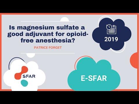 E-sfar 2019- Is Magnesium Sulfate A Good Adjuvant For Opioid-free Anesthesia?