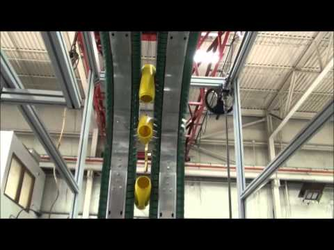 AIS Container Handling Side Grip Inverter Takeout Conveyor