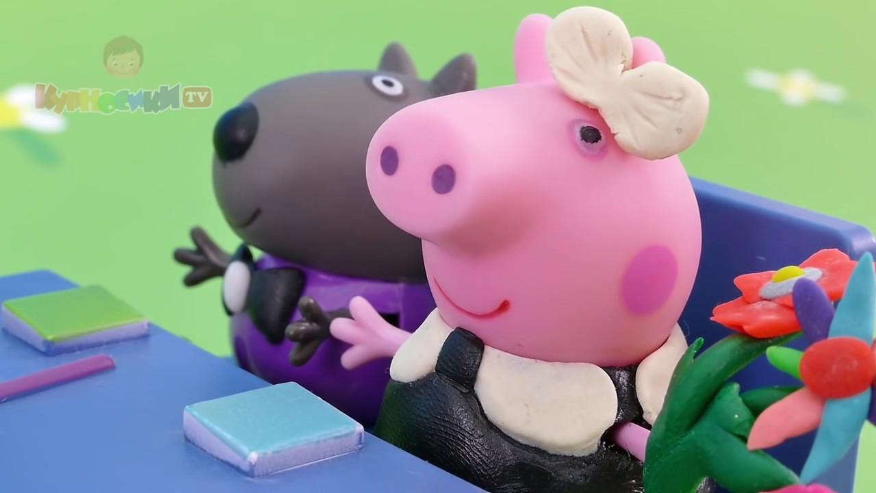 мультик свинка пеппа видео игрушки курносики тв