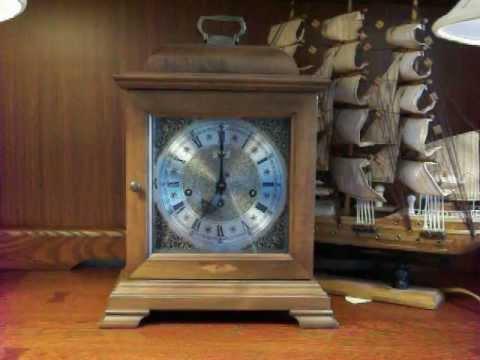 Hamilton Westminster Chime Bracket Mantel Clock