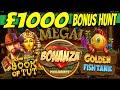 £1000 BONUS HUNT - Bonanza Megaways, Millionaire Megaways + MEGA BIG WIN ON A NETENT SLOT!!
