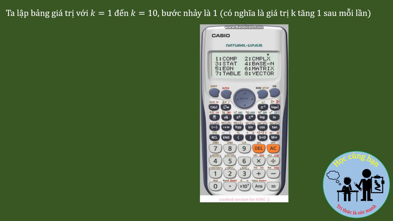 Giải bài toán Sóng ánh sáng bằng máy tính bỏ túi Casio.