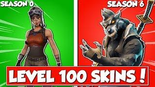 all *LEVEL 100* skins in Fortnite!
