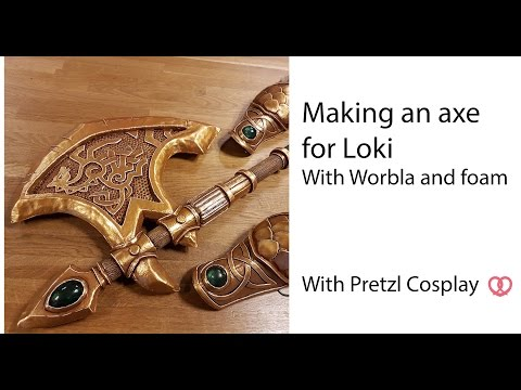 How to make a Worbla axe for (Lady) Loki - Cosplay tutorial