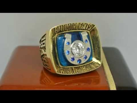 Baltimore Colts 1970 NFL Super Bowl V Championship Ring