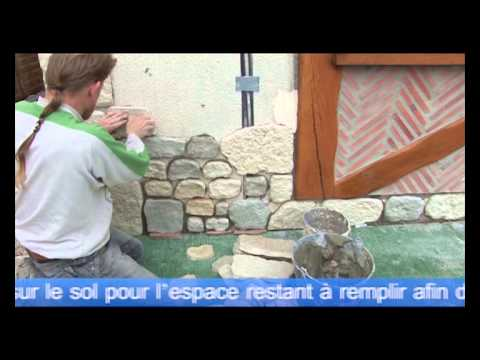 Pierre de parement youtube for Parement mural exterieur