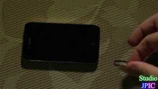 Apple iPhone 4S how to install a SIM card