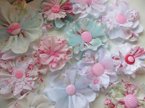 chic and cheap shabby cute fabric flowers youtube rh youtube com