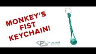 Paracord Tutorial: How To Tie A Monkey's Fist Keychain