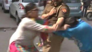 Lucknow: Woman beats husband's girlfriend publicly