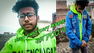 Neon BALENCIAGA hoodie in just 700rs | best cheap winter outfits | sayan singh