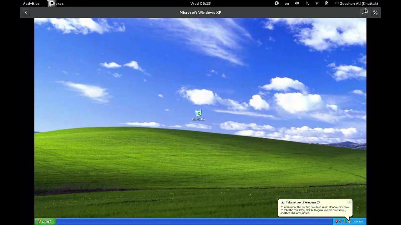 Boxes 3 8: Microsoft Windows XP w/ QXL/spice-vdagent