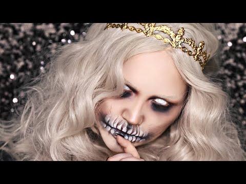 QUEEN OF THE DEAD / Halloween Makeup Tutorial - YouTube