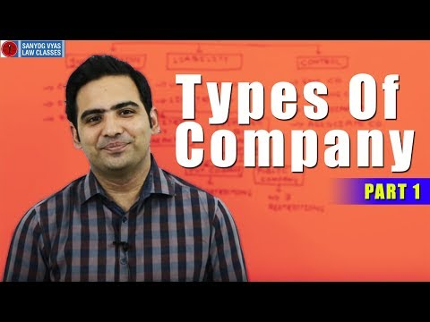 Types Of Company Part 1 by Advocate Sanyog Vyas