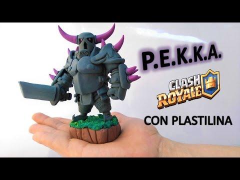 Como hacer a P.E.K.K.A. (Clash Royale) de Plastilina. How to Make P.E.K.K.A. (CR) Clay tutorial