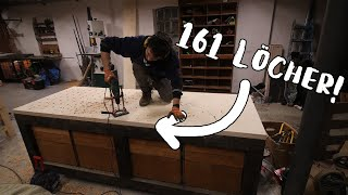 Why I'm drilling 161 holes in my workbench. | Garage4 E.12