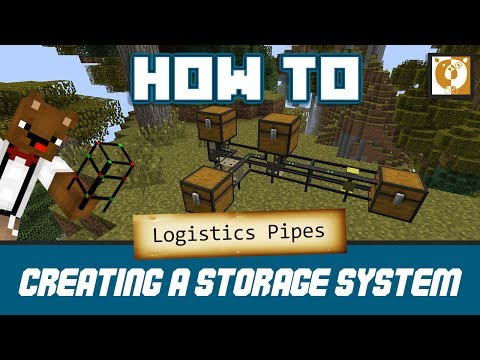 How To Create A Storage System - Logistics Pipes [Minecraft 1.7.10] - Bear Games How To
