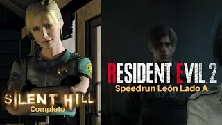Silent Hill 1 Dificultad Hardcore Y Resident Evil 2 - Speedrun Any% lado A leon - Español