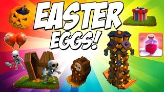 Clash of Clans Single Player Easter Eggs! Hidden Bombs & More!