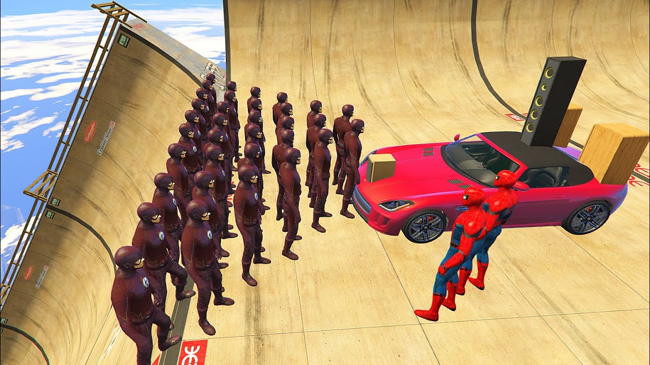 GTA 5 Insane/Crazy Ragdolls Spiderman VS FLASH Compilation vol.1 (Euphoria Physics | Funny Moments)