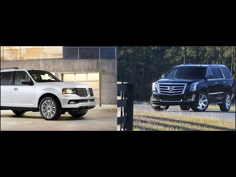 2015 cadillac escalade vs lincoln navigator by the numbers youtube. Black Bedroom Furniture Sets. Home Design Ideas