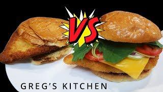 McDonalds Copycat Versus McGrego Chicken Cheese Burger
