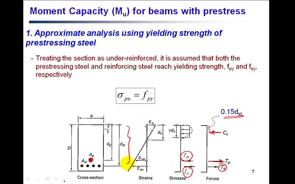 Prestressed Concrete (Ultimate Moment Capacity) PC5