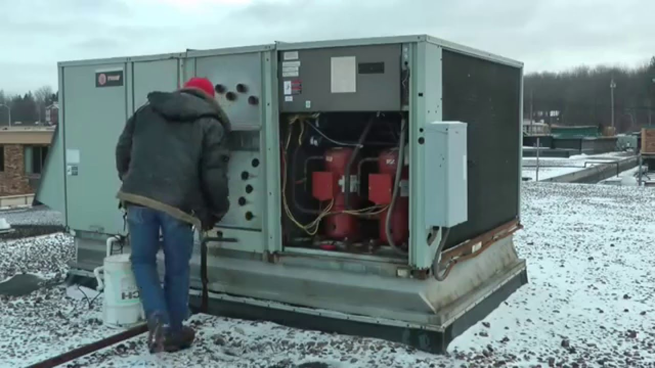 TRANE HEAT EXCHANGER REPLACEMENT RTU - YouTube