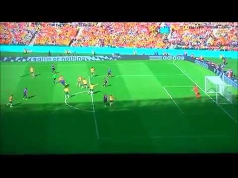 Australia vs Netherlands: 2-3 | Robin Van Persie's Goal (2014 FIFA World Cup)