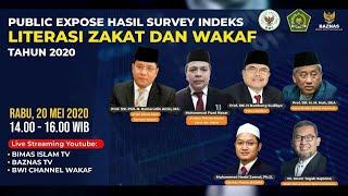 LIVE - Public Expose Hasil Survey Indeks Literasi Zakat dan Wakaf 2020