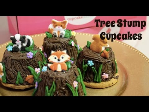 How To Make Tree Stump Woodland Cupcakes Youtube